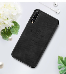 PINWUYO Honorable Series PU Leather Coated PC + TPU Hybrid Case for Samsung Galaxy A70 - Black