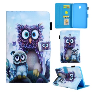 Animal Series Patterned Leather Tablet Cover for Samsung Galaxy Tab A 8.0 (2017) T380/T385 - Owls