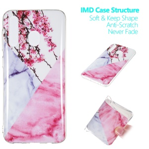 Marble Pattern IMD TPU Soft Back Case for Samsung Galaxy A30 / A20 - Style J
