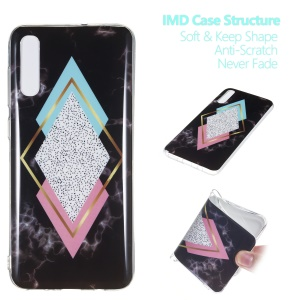 Marble Pattern IMD TPU Gel Mobile Casing for Samsung Galaxy A70 - Style W
