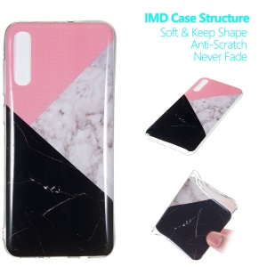 Marble Pattern IMD TPU Soft Back Case for Samsung Galaxy A70 - Style D