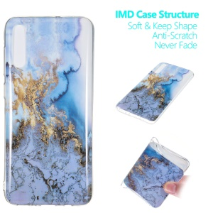Marble Pattern IMD TPU Soft Back Case for Samsung Galaxy A70 - Style F