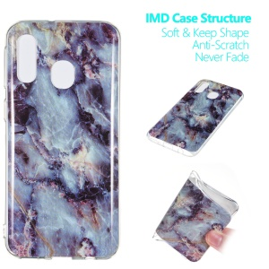 Marble Pattern IMD TPU Shell Phone Case for Samsung Galaxy A40 - Style K