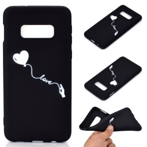 Matte Pattern Printing TPU Soft Mobile Cover for Samsung Galaxy S10e - Heart and Love