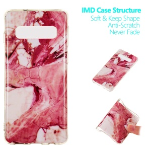 Marble Pattern IMD TPU Gel Mobile Casing for Samsung Galaxy S10 5G - Style A