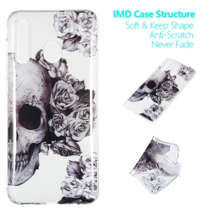 Pattern Printing IMD TPU Case for Samsung Galaxy A30 / A20 - Cool Skull
