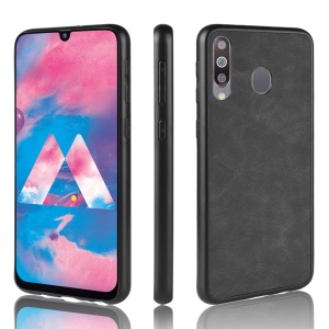 Leather Coated TPU Case for Samsung Galaxy M30/A40s - Black