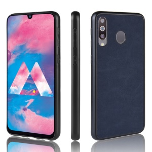 Leather Coated TPU Case for Samsung Galaxy M30/A40s/A40s - Blue