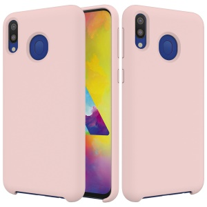 Soft Liquid Silicone Cell Phone Cover for Samsung Galaxy M20 - Pink
