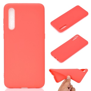 Solid Color Soft Matte TPU Back Case Shell for Samsung Galaxy A50 / A50s / A30s - Red