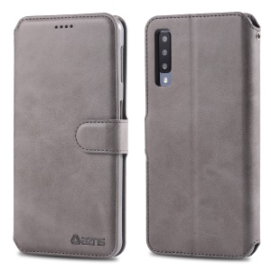 AZNS Wallet Leather Mobile Phone Case for Samsung Galaxy A50 / A50s / A30s - Grey