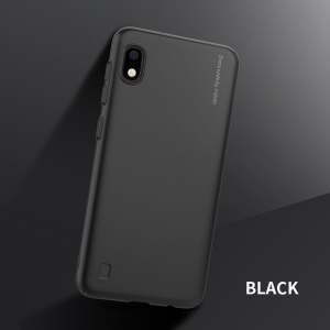 X-LEVEL Serie Di Accessori In Plastica Satinata Per Cavaliere Samsung Galaxy A10 - Nero