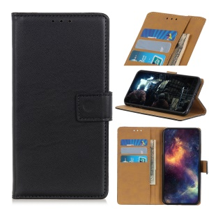 Wallet Leather Stand Case for Samsung Galaxy A20e - Black