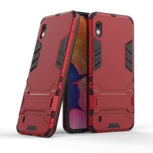 Cool Guard PC + TPU Hybrid Case with Kickstand for Samsung Galaxy A10 - Red