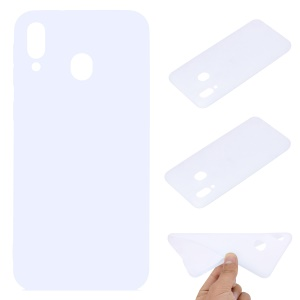 Soft Frosted TPU Phone Case Accessory for Samsung Galaxy M20 - White