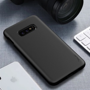 IPAKY Matte Wheat Straw TPU Mobile Shell for Samsung Galaxy S10e - Black