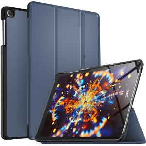 Tri-fold Leather Stand Case for Samsung Galaxy TAB A 10.1 (2019) SM-T510/SM-T515 - Blue