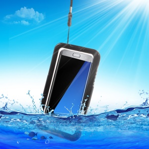 IP68 100% Waterproof Case Cover for Samsung Galaxy S7 edge G935 - Black