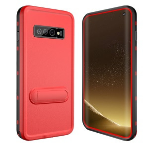 REDPEPPER IP68 Waterproof Phone Case for Samsung Galaxy S10 Plus [Support Fingerprint Unlock] - Red