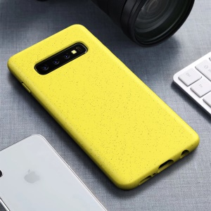 Matte Eco-Friendly Degradable Wheat Straw TPU Protection Phone Case for Samsung Galaxy S10 Plus  - Yellow