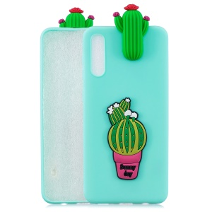 3D Pattern TPU Gel Protective Case for Samsung Galaxy A50 / A50s / A30s - Cactus