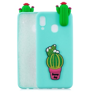 3D Pattern TPU Phone Protective Case for Samsung Galaxy A40 - Cactus