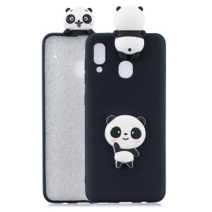 3D Pattern TPU Phone Protective Case for Samsung Galaxy A40 - Panda