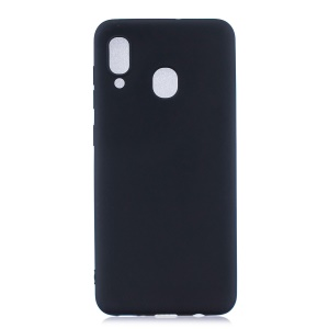 Solid Color Candy TPU Case for Samsung Galaxy A40 - Black