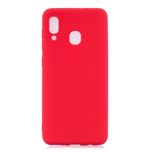 Solid Color Candy TPU Case for Samsung Galaxy A40 - Red