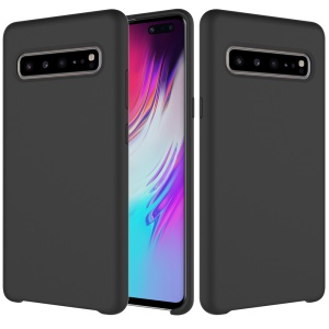 Rubberized Silky Silicone Case for Samsung Galaxy S10 5G - Black