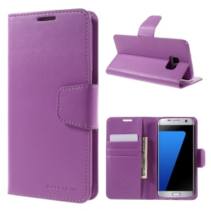 MERCURY GOOSPERY Wallet Leather Case for Samsung Galaxy S7 edge G935 - Purple