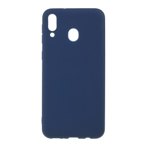 Double-sided Matte TPU Case for Samsung Galaxy M20 - Dark Blue