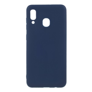 Double-sided Matte TPU Case for Samsung Galaxy A30 - Dark Blue