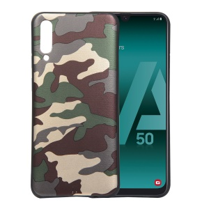 For Samsung Galaxy A50/A50s/A30s  Camouflage Pattern TPU Cover Phone Case - Green