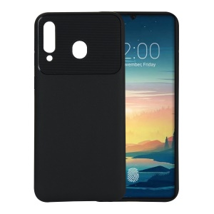 Armour Series Soft TPU Mobile Casing Heat Dissipation Inner for Samsung Galaxy M30 - Black