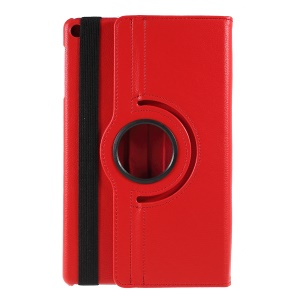 For Samsung Galaxy TAB A 10.1 (2019) SM-T510/SM-T515 Litchi Texture Leather Protection Tablet Cover [with 360 Degree Rotary Stand] - Red