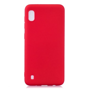 Solid Color Candy TPU Case for Samsung Galaxy A10 - Red