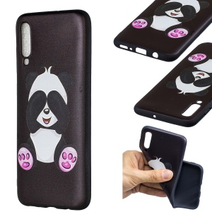 Embossment Patterned TPU Case Accessory for Samsung Galaxy A70 - Cute Panda
