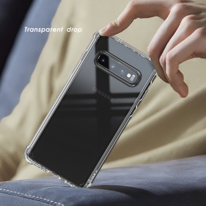 IPAKY Anti-drop Clear TPU + PC Back Case for Samsung Galaxy S10 Plus - Transparent