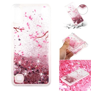 Moving Glitter Powder Sequins Patterned TPU Case for Samsung Galaxy A10/M10 - Petals