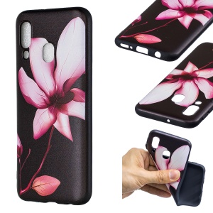 Embossment Patterned TPU Case Accessory for Samsung Galaxy A40 - Pretty Flower