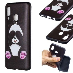 Embossment Patterned TPU Case Accessory for Samsung Galaxy A40 - Cute Panda