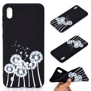 Matte Pattern Printing TPU Soft Mobile Cover for Samsung Galaxy A10 - Dandelion