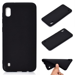 Soft Frosted TPU Phone Case for Samsung Galaxy A10 - Black