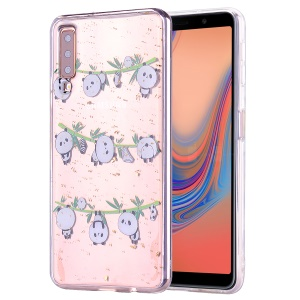 Glitter Sequins Inlaid Patterned TPU Phone Cover for Samsung Galaxy A70 - Pandas