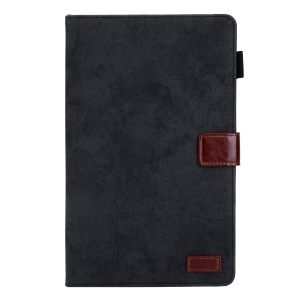 Business Style Auto Wake & Sleep Leather Case with Card Storage for Samsung Galaxy TAB A 10.1 (2019) SM-T510/SM-T515 - Black