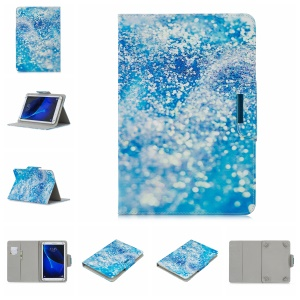Universal Patterned 8-inch PU Leather Tablet Protective Case for Huawei MediaPad T3 8.0 / Samsung Galaxy Tab A 8.0 etc - Blue Sand