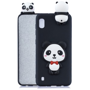 3D Cute Doll Pattern Printing TPU Case for Samsung Galaxy A10/M10 - Panda with Red Bowknot