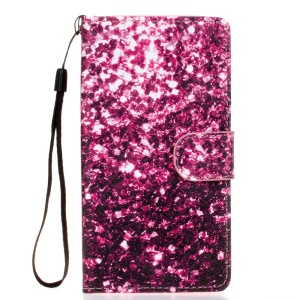 Leather Case Card Holder for Samsung Galaxy S5 G900 - Purple Fragment