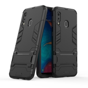 Cool Guard Kickstand PC TPU Hybrid Case for Samsung Galaxy A20e -  All Black